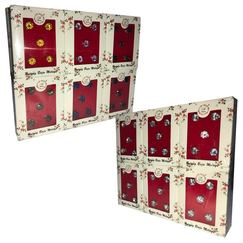 Butang Baju Melayu/Cubic Zirconia (10mm)-12Boxes