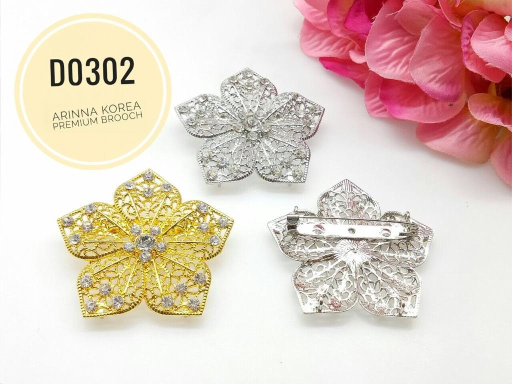 D0302 Brooch Dokoh (25pcs)