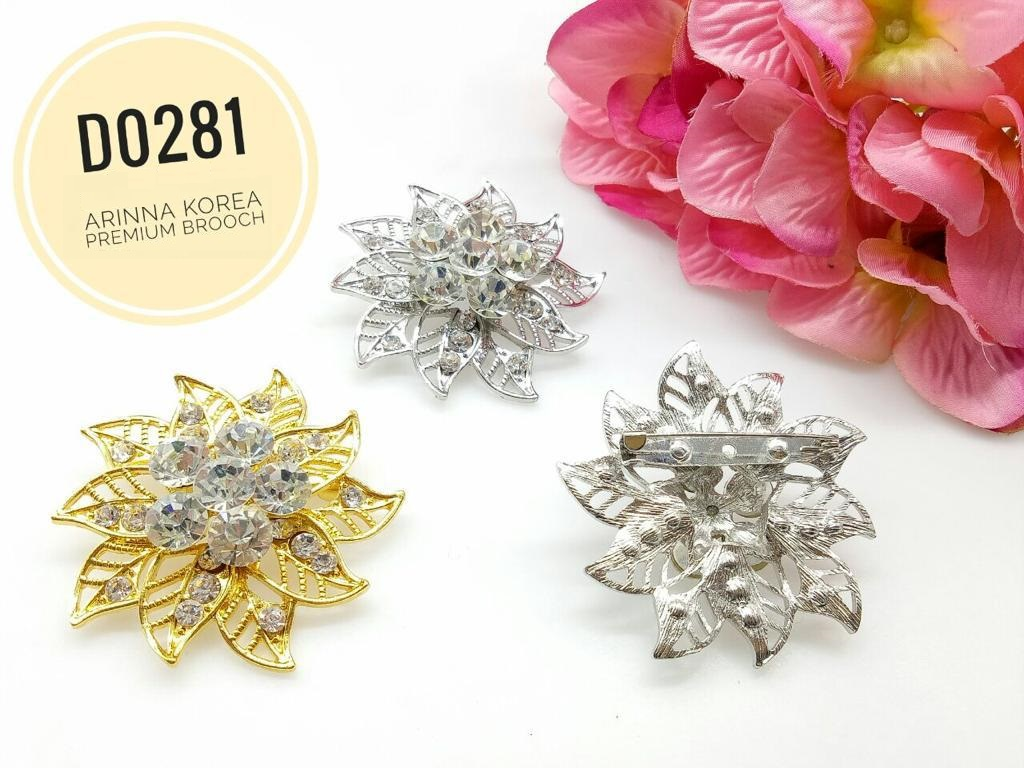 D0281 Brooch Dokoh (20pcs)