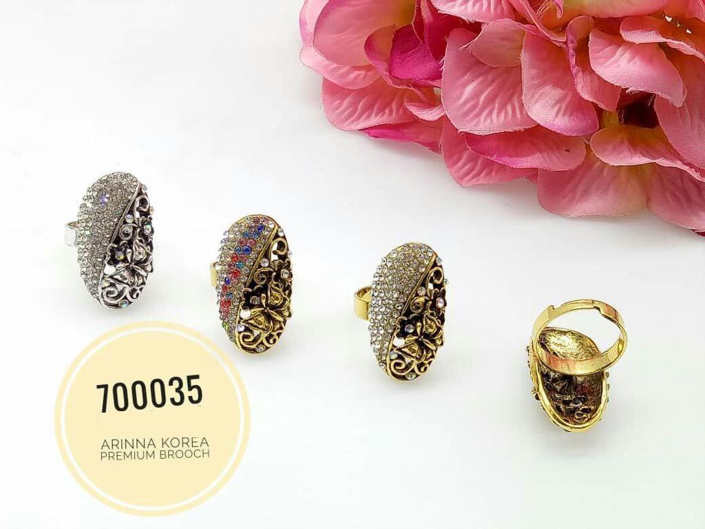 700035(1) Cincin Tudung Bawal/Korea Ring Brooch (50PCS)