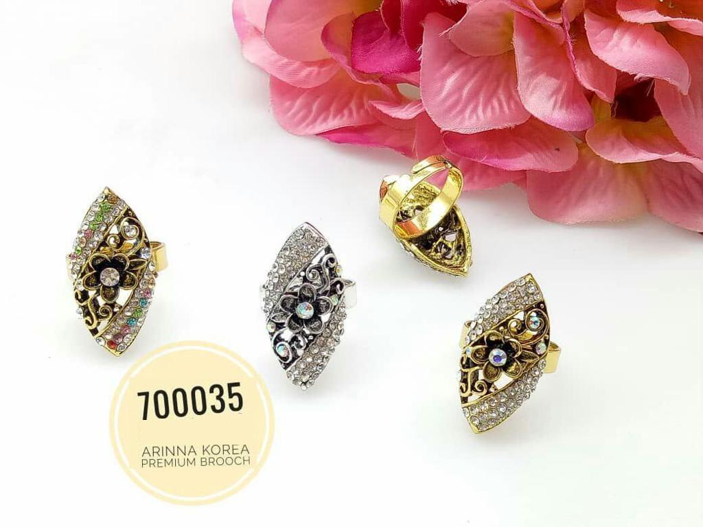 700035(2) Cincin Tudung Bawal/Korea Ring Brooch (50PCS)