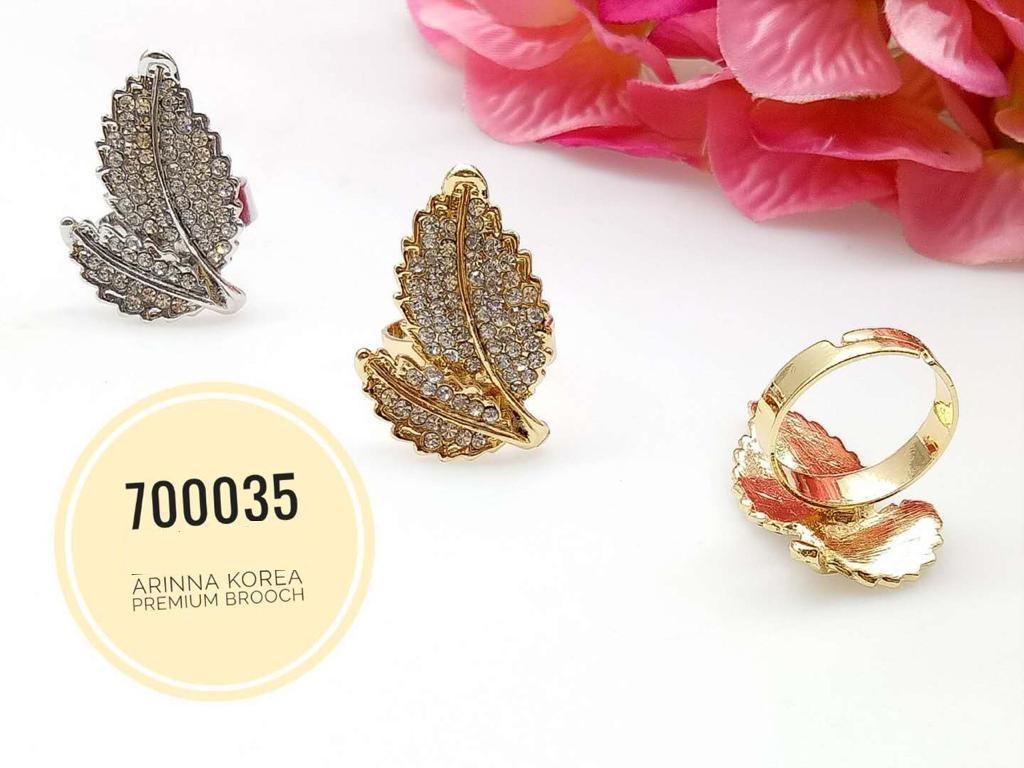 700035(3) Cincin Tudung Bawal/Korea Ring Brooch (50PCS)