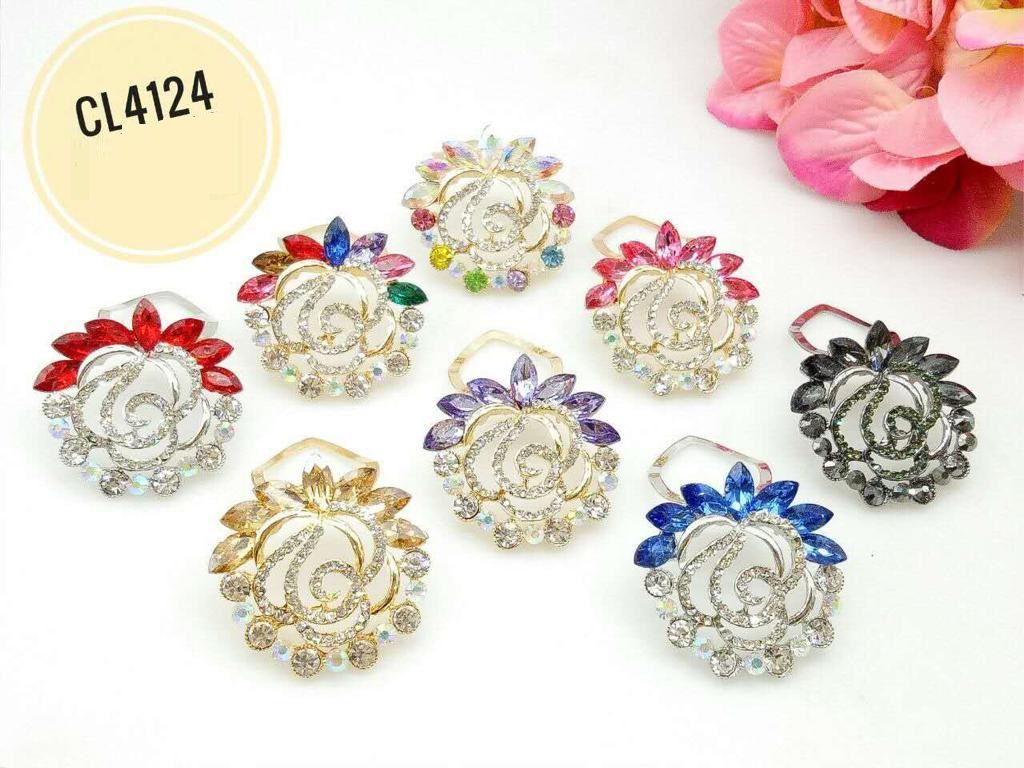 CL4124 Korea Brooch Klip/Clip Brooch (35pcs)