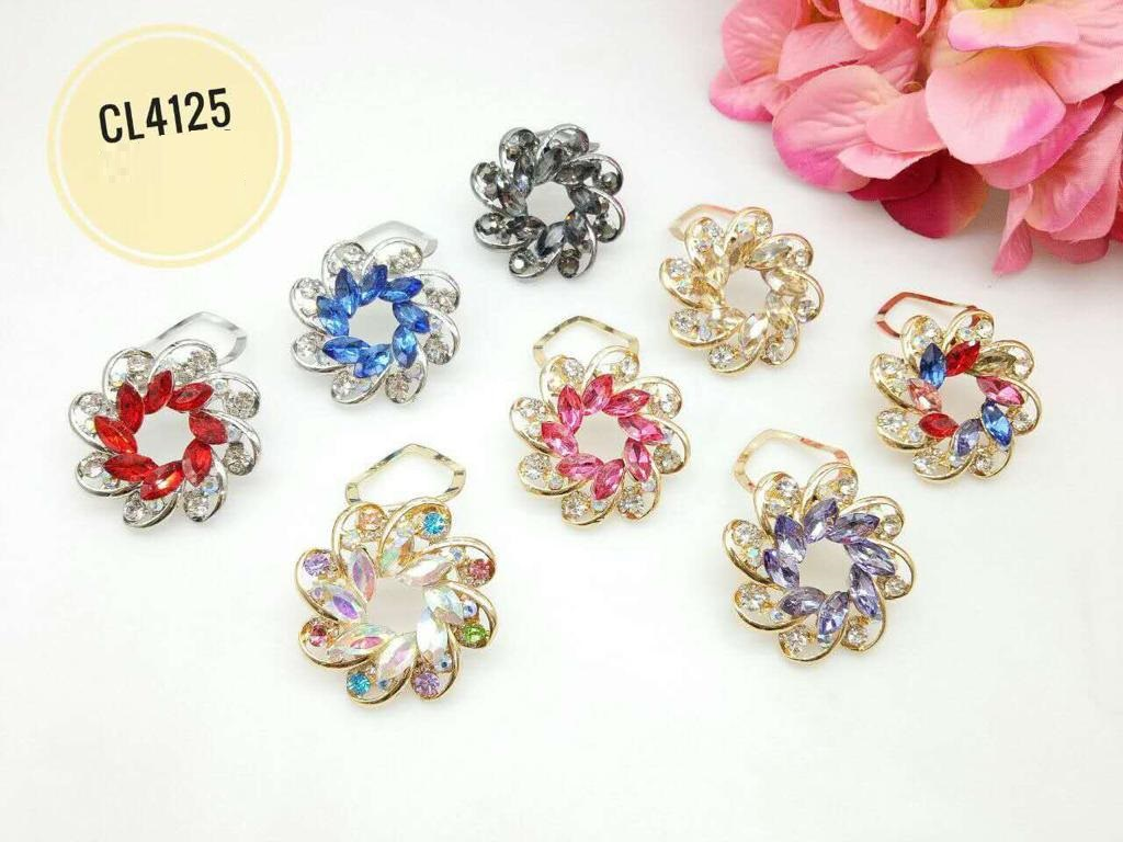 CL4125 Korea Brooch Klip/Clip Brooch (35pcs)