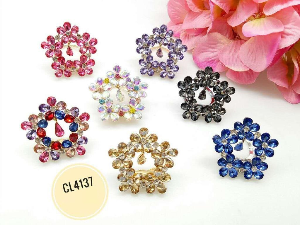 CL4137 Korea Brooch Klip/Clip Brooch  (35pcs)