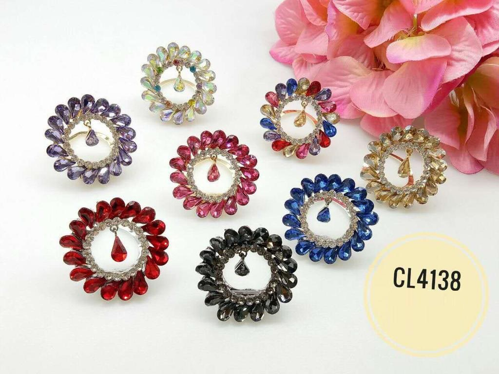 CL4138 Korea Brooch Klip/Clip Brooch  (35pcs)