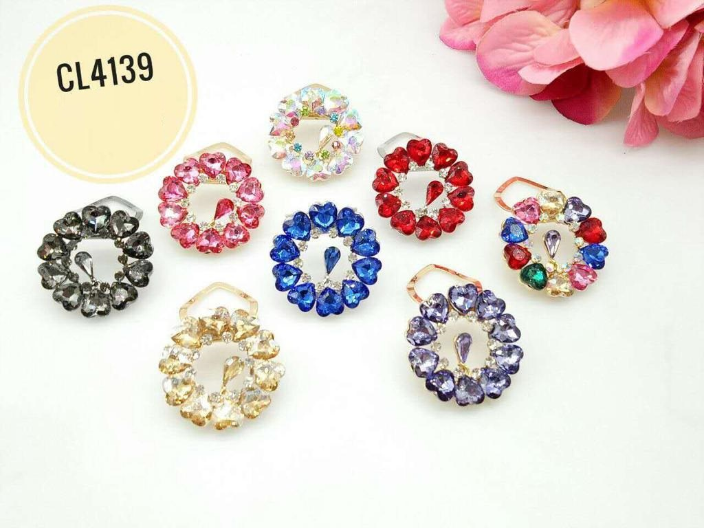 CL4139 Korea Brooch Klip/Clip Brooch  (35pcs)