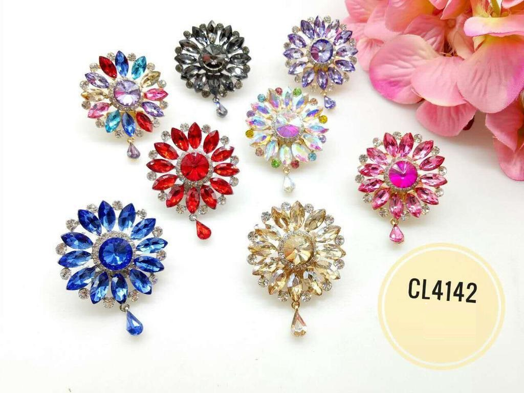 CL4142 Korea Brooch Klip/Clip Brooch (35pcs)