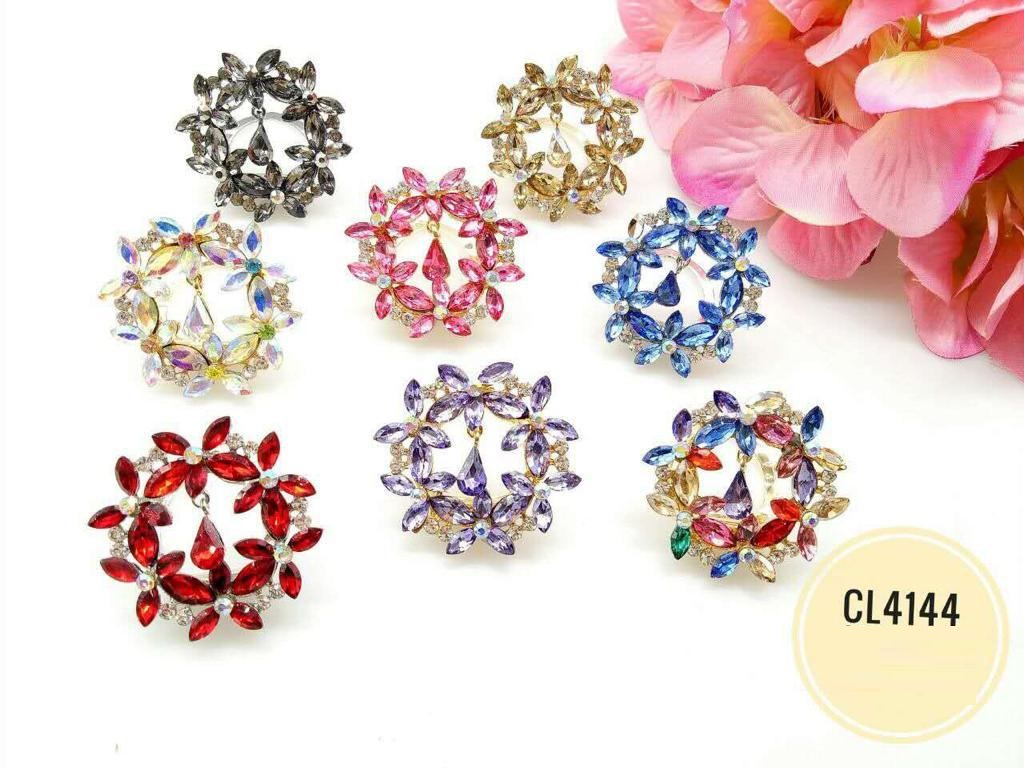 CL4144 Korea Brooch Klip/Clip Brooch (35pcs)