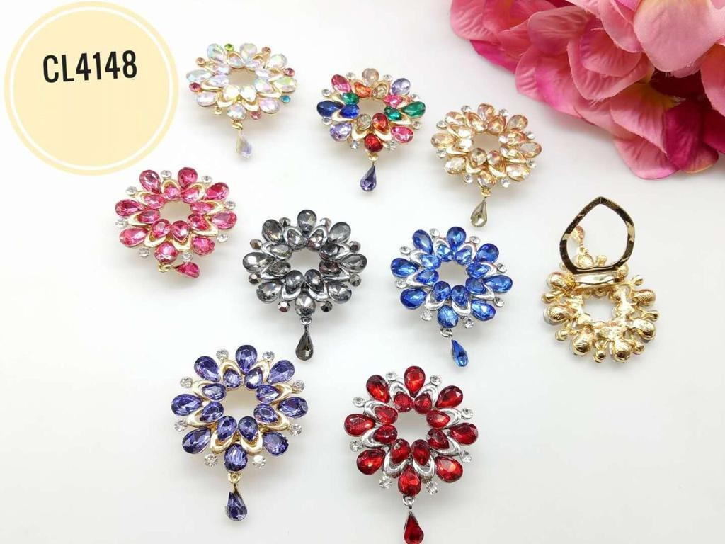 CL4148 Korea Brooch Klip/Clip Brooch (35pcs)