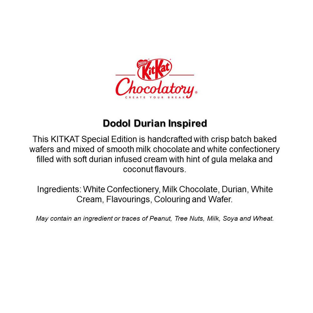 Nestle KITKAT Chocolatory - Dodol Durian Special Edition