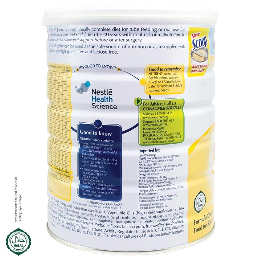 NUTREN JUNIOR Powder Vanilla 800g