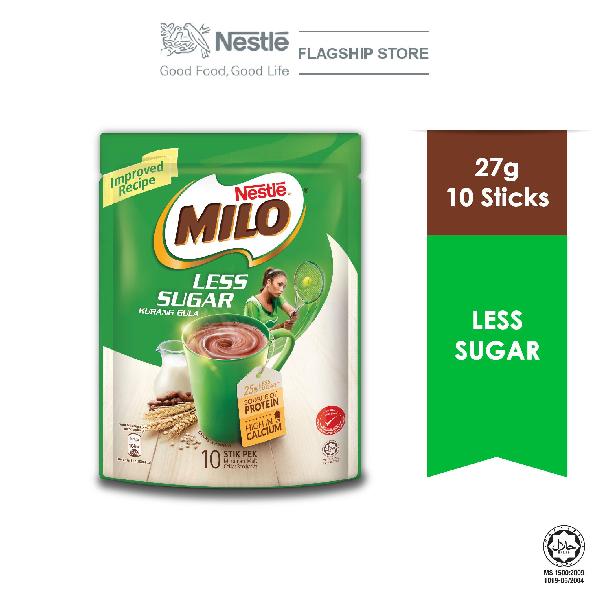 MILO ACTIV-GO Less Sugar 10 Sticks x 26g