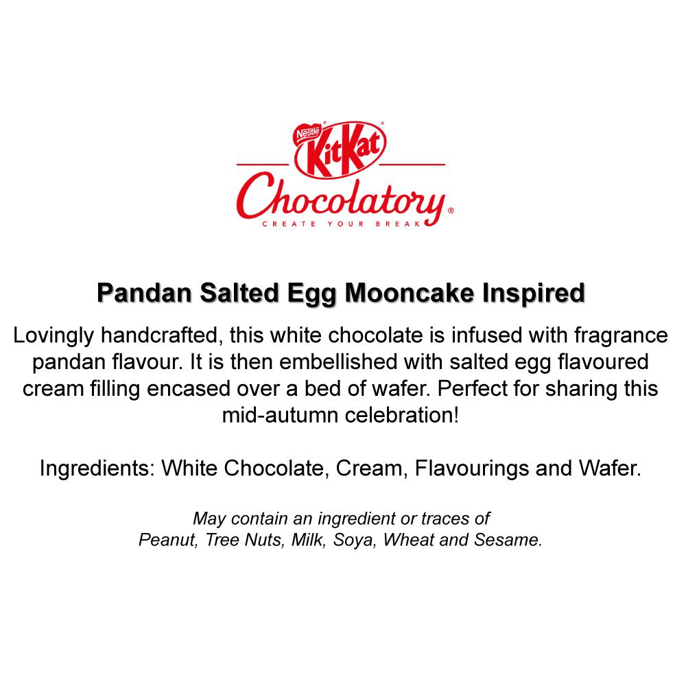 KITKAT Chocolatory Mooncake Inspired KITKAT - Pandan Salted Egg