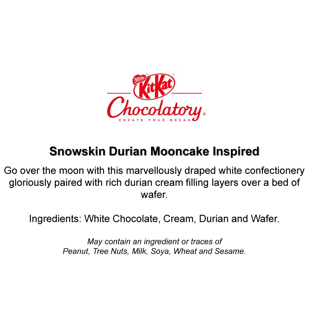 KITKAT Chocolatory Mooncake Inspired KITKAT - Snowskin Durian