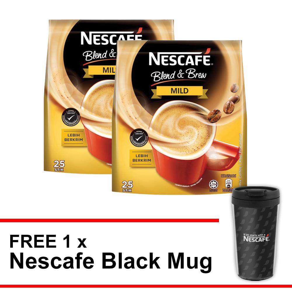 Nescafe Blend & Brew Mild Buy 2 Free Nescafe Black Mug