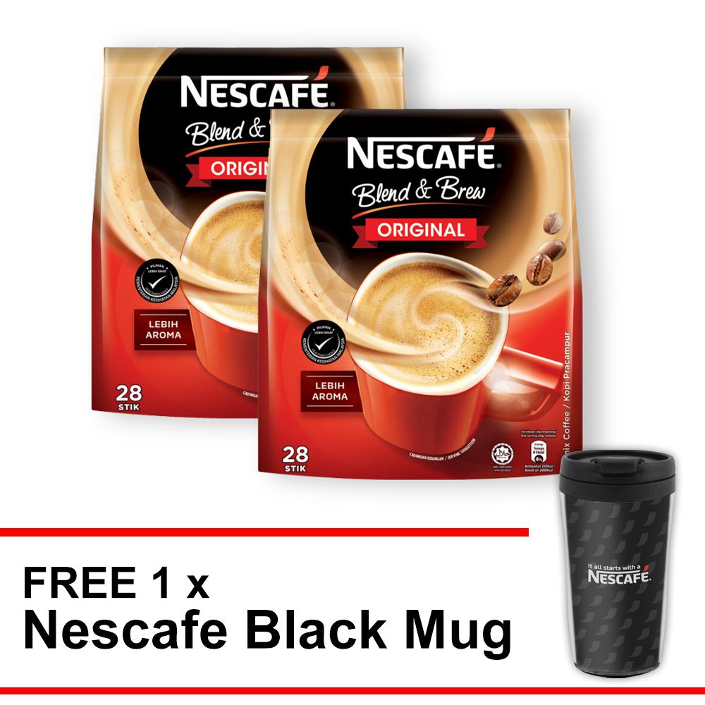 Nescafe Blend & Brew Original Buy 2 Free Nescafe Black Mug