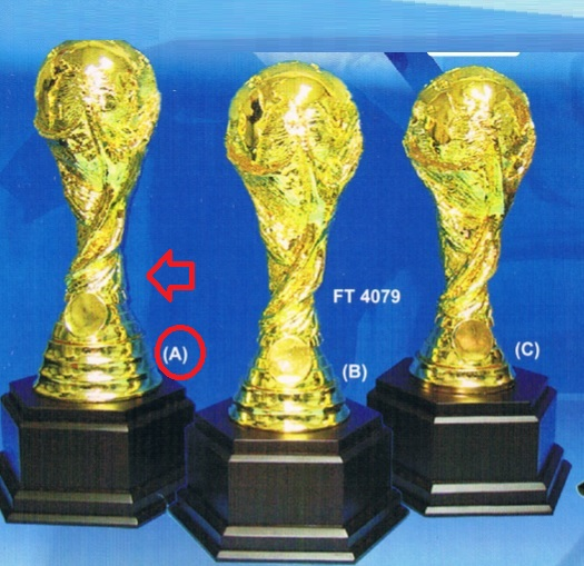 FT4079 Fiber World Cup Gold Trophy (A/B/C)