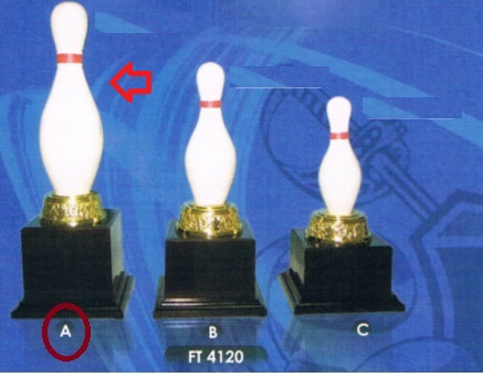 FT4120 Fiber Bowling Pin Trophy (A/B/C)