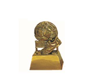 FT4144 Half Fiber Sepak Takraw Trophy (A/B/C)