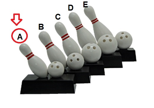 FT4224 Fiber Bowling Pin & Ball with Base (A/B/C/D/E)