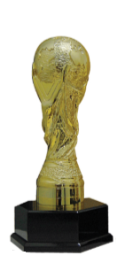 FT4241 Fiber Pattern Challenged Gold Cup Trophy (A/B/C)