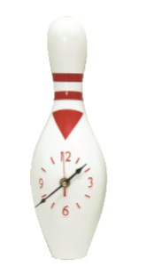 FT4298 Fiber Pattern Bowling Pin With Clock (A/B)