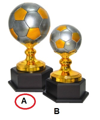 FT4354 Fiber Pattern Football Trophy (A/B)