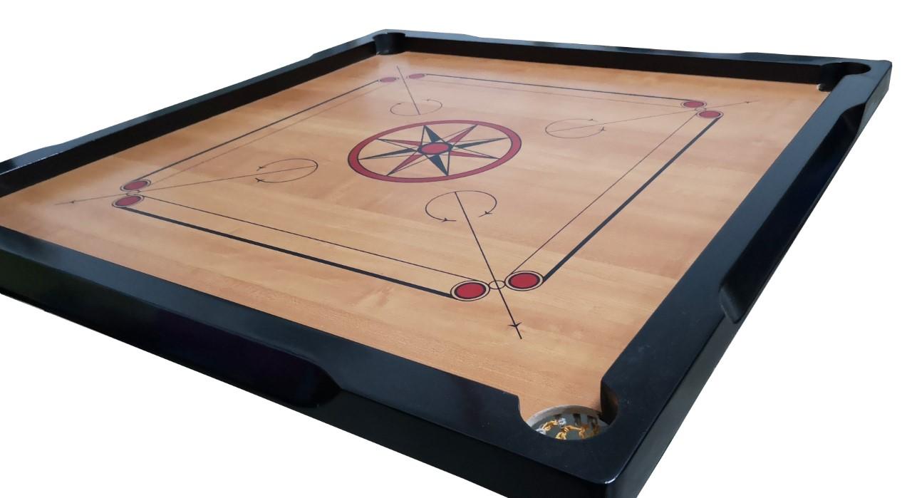 GC212 Carrom Board Set with Carrom Men/Stricker (Size: 83.5 x 83.5 cm)