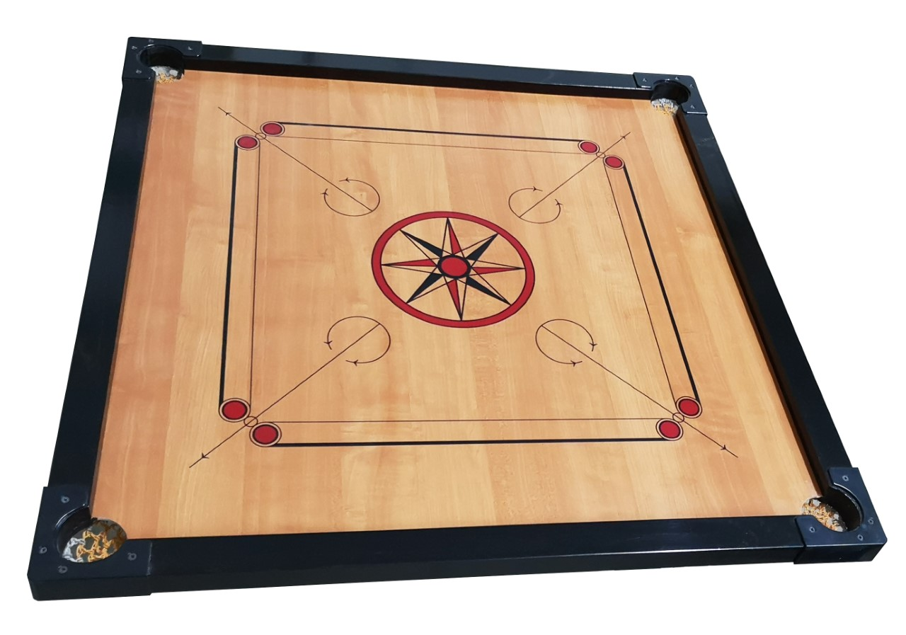 GC210 Carrom Board Set with Carrom Men/Stricker (Size: 83.0 x 83.0 cm)
