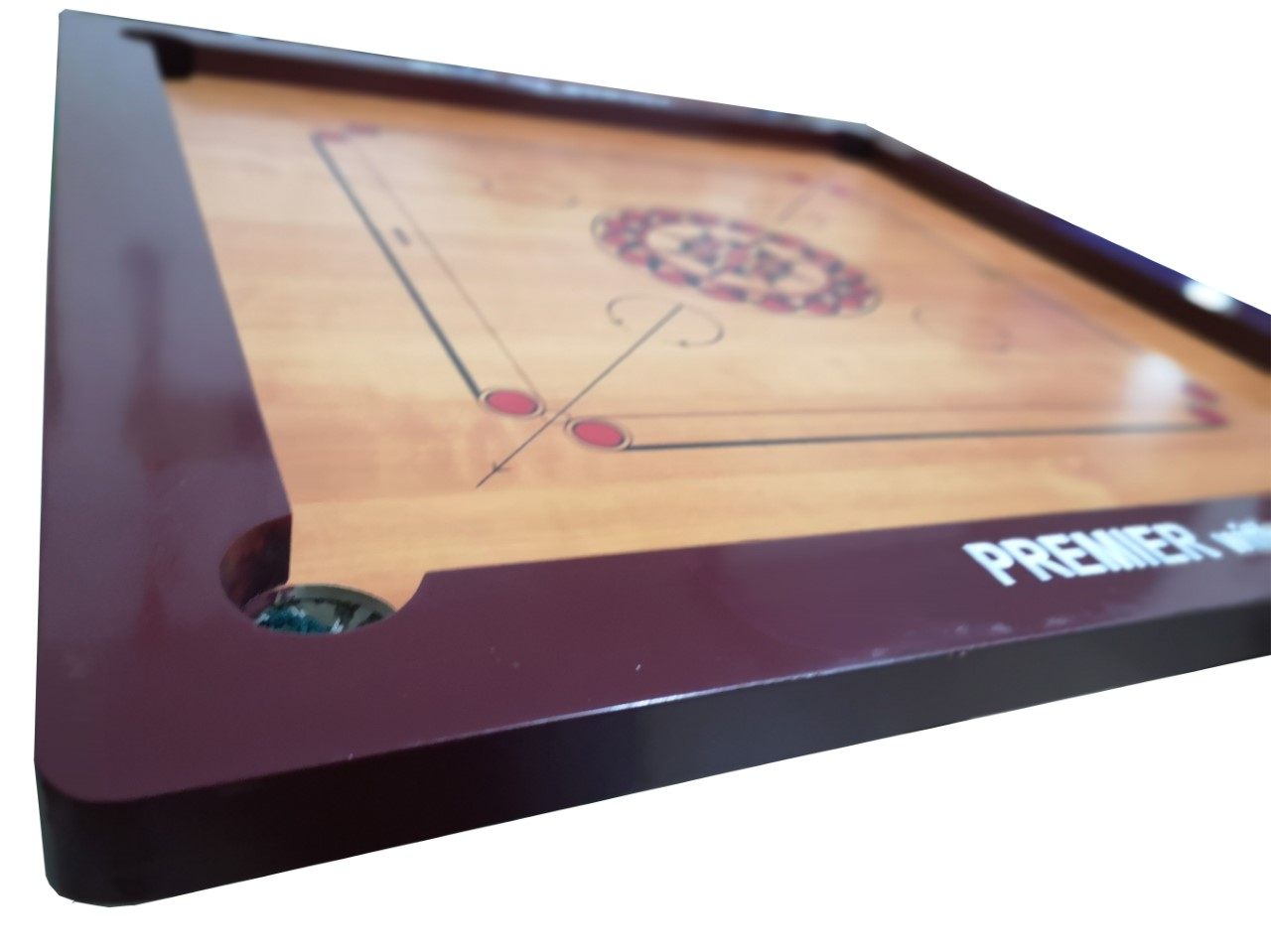GC414 Carrom Board & Chess Set (2 Faces in 1 Boxes) with Carrom Men/Stricker (Size: 88.0 x 88.0 cm)