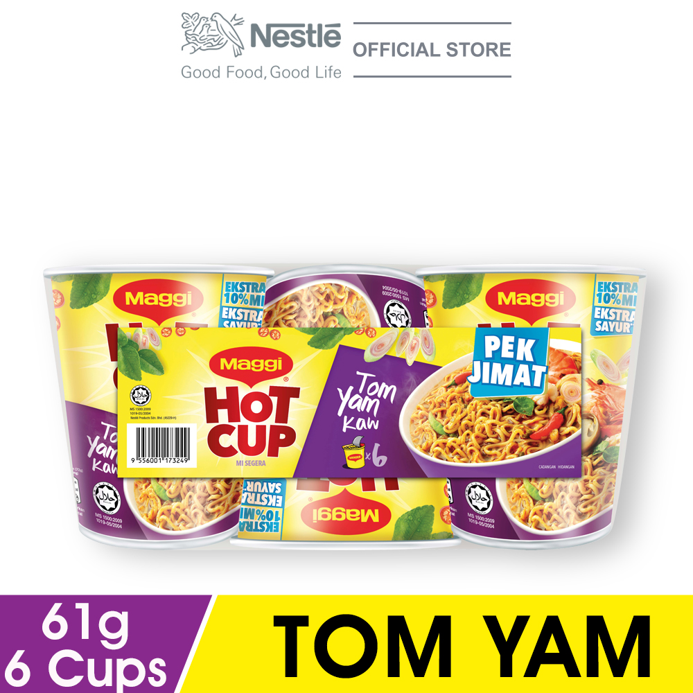 MAGGI Hot Cup Tom Yam 6 Cups 61g