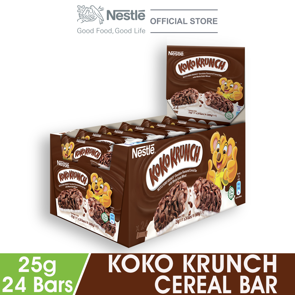 NESTLÉ KOKO KRUNCH Chocolate Cereal Bar 24 Bars 25g Each