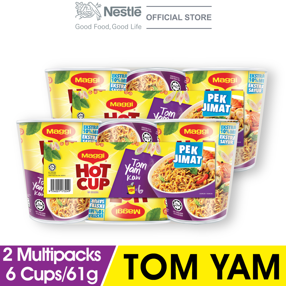 MAGGI Hot Cup Tom Yam 6 Cups 61g x2 Multipacks
