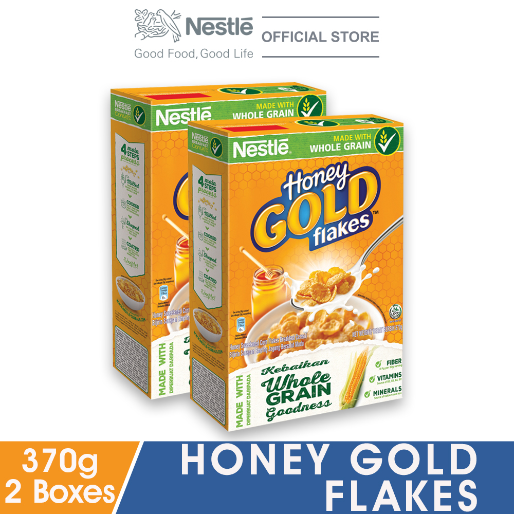 HONEY GOLD Cereal Large Box 370g x2 boxes