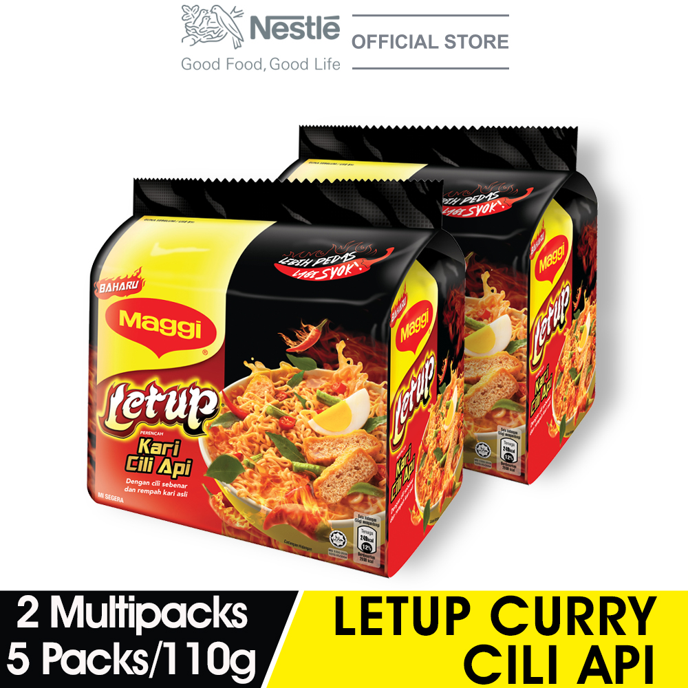 MAGGI 2-MINN Letup Curry Cili Api 5 Packs 110g x2 Multipacks