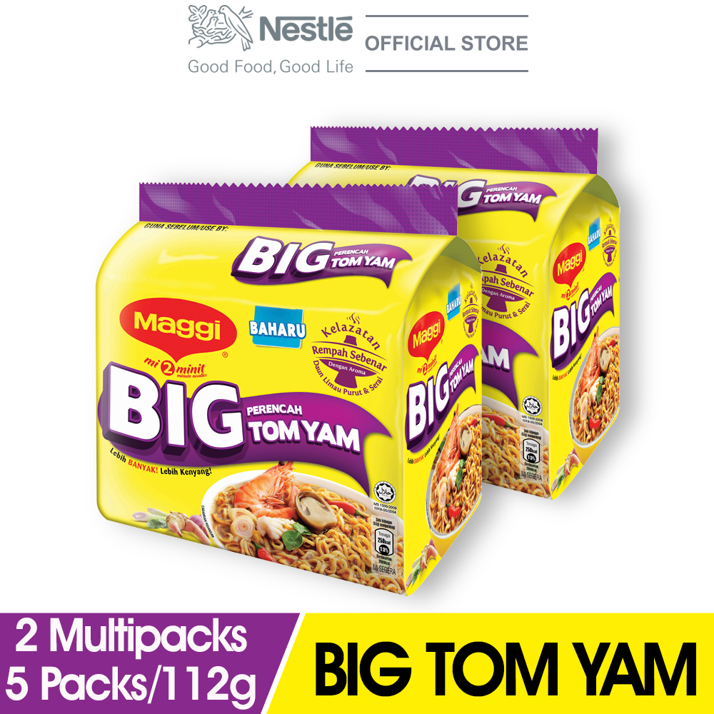 MAGGI 2-MINN Big Tom Yam 5 Packs 112g x2 Multipacks