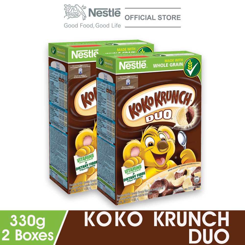 NESTLE KOKO KRUNCH DUO Cereal Large 330g x2 boxes