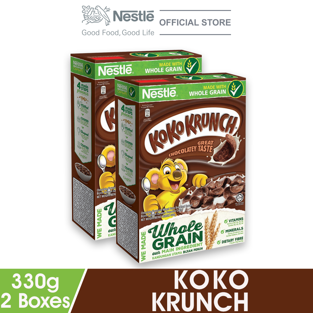 NESTLE KOKO KRUNCH Cereal Large 330g x2 boxes