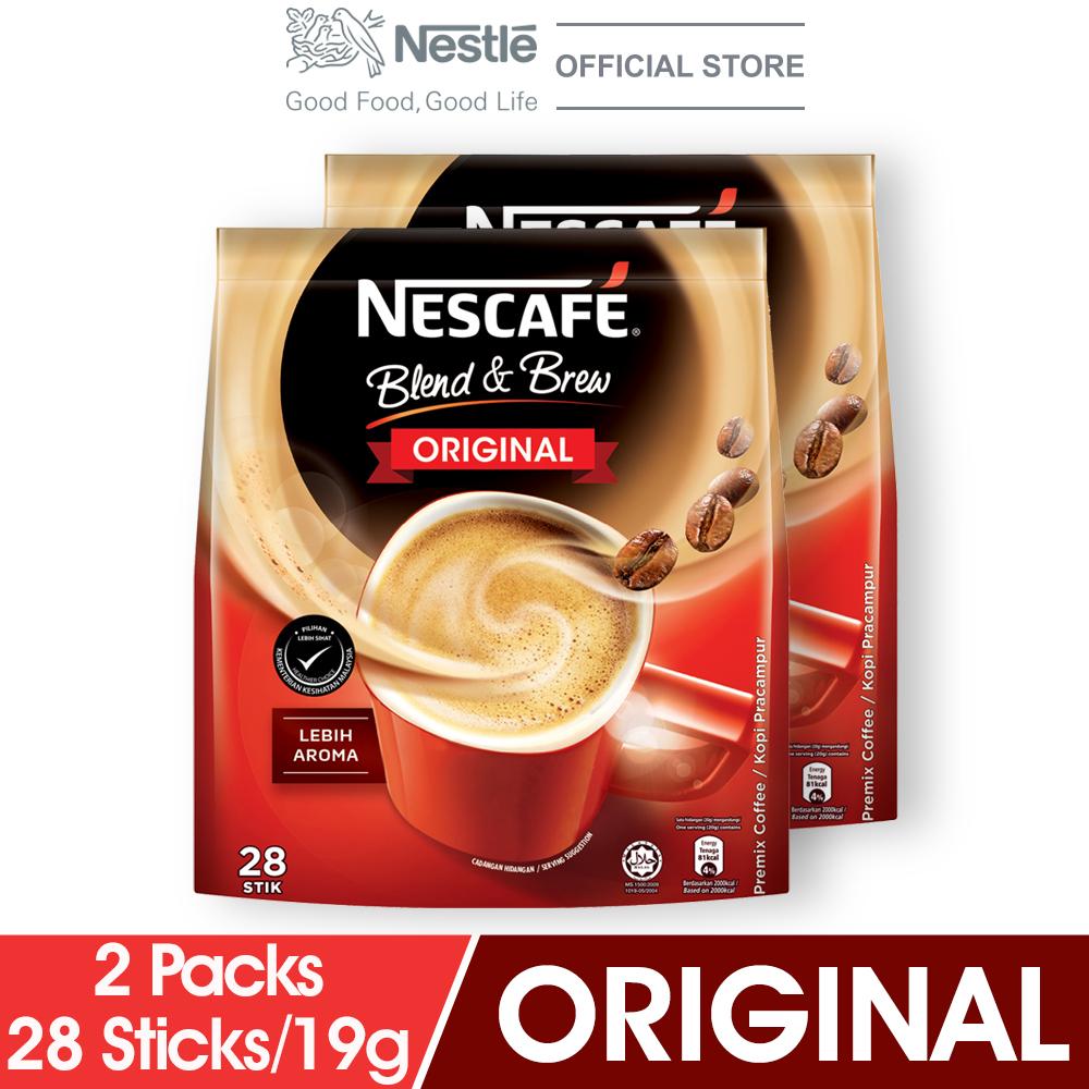 NESCAFE Blend and Brew Original 28 Sticks 19g x2 packs