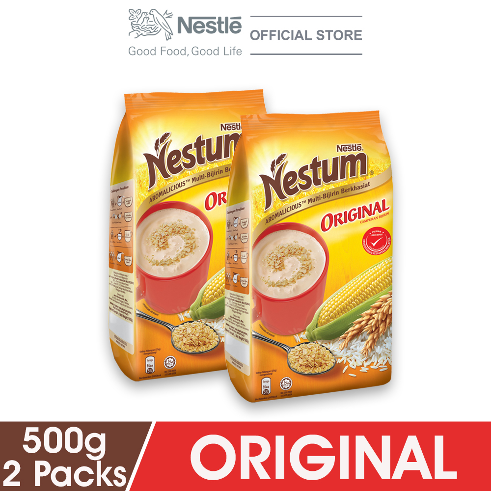 NESTLE NESTUM All Family Cereal Original Softpack 500g x2 packs