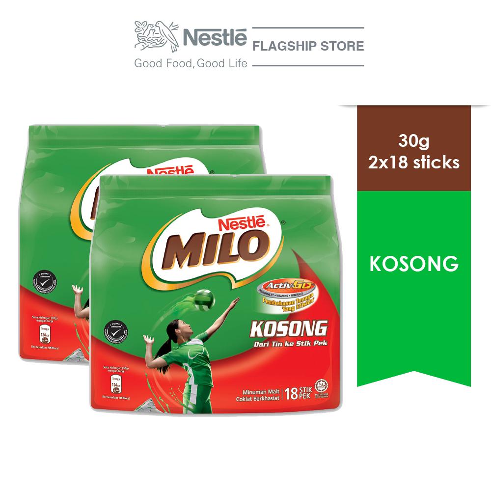 NESTLÉ MILO KOSONG ACTIV-GO 18 Sticks 30g x2 packs