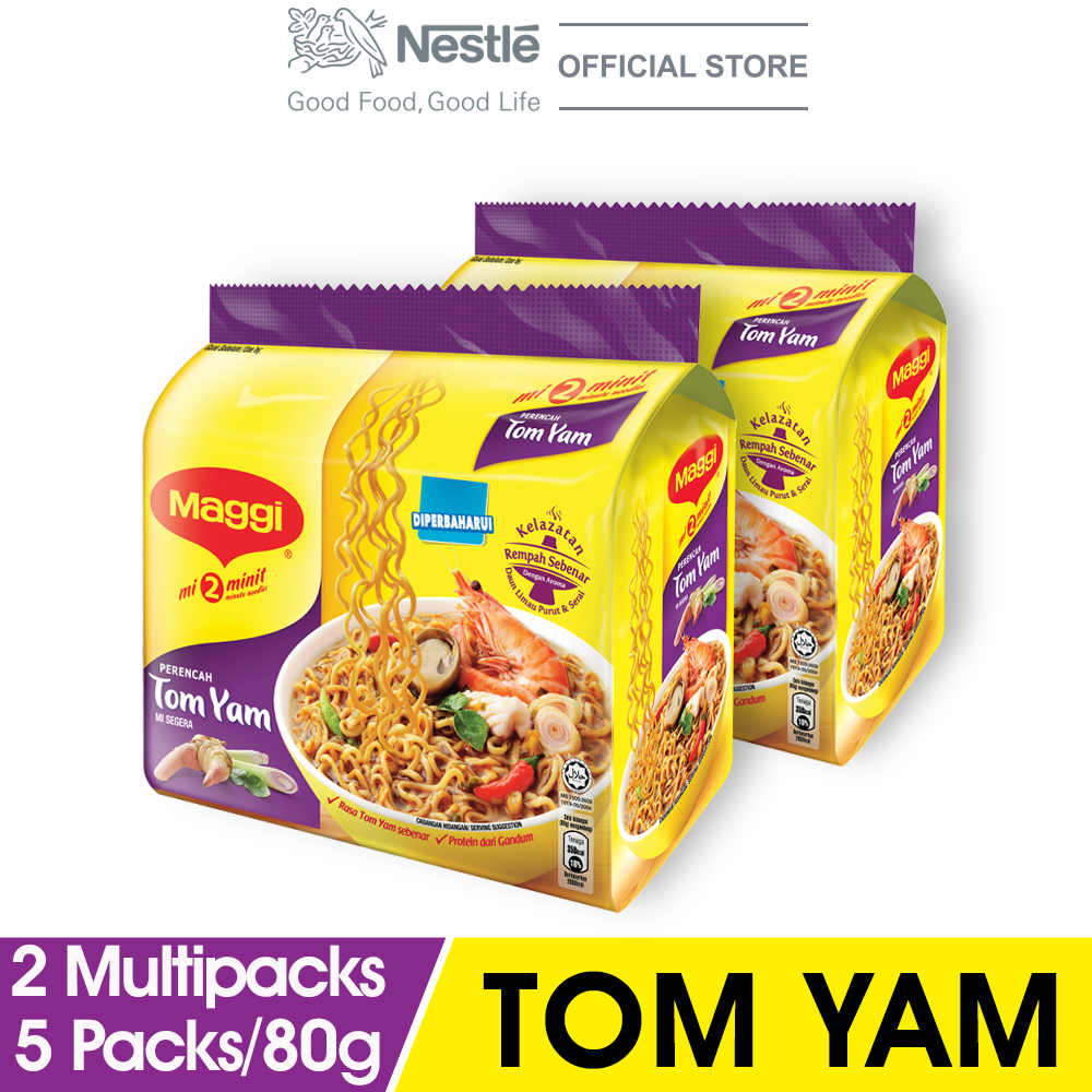 MAGGI 2-MINN Tom Yam 5 Packs 83g x2 Multipacks