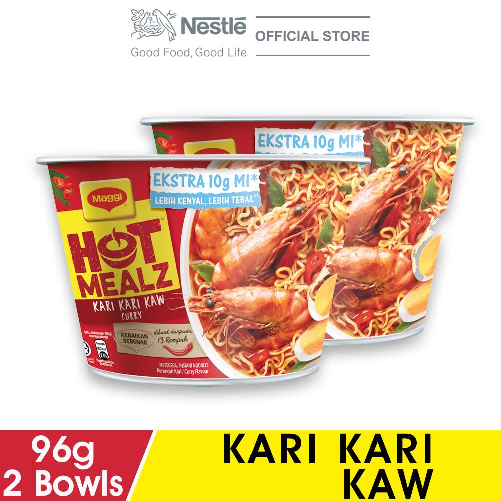 MAGGI Hot Mealz Kari Kari Kaw Bowl 89g x2 bowls