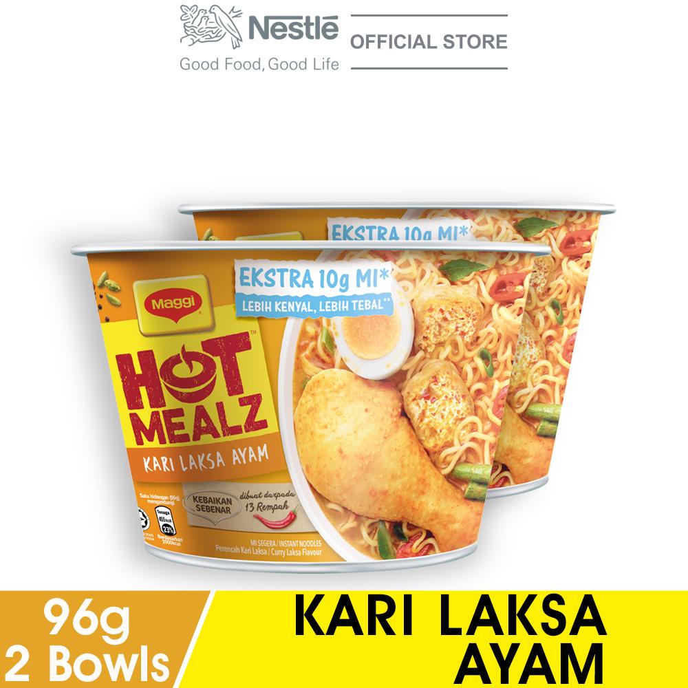 MAGGI Hot Mealz Kari Laksa Ayam Bowl 97g x2 bowls