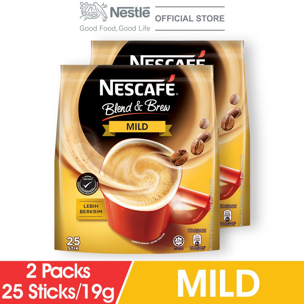 NESCAFE Blend and Brew Mild 25 Sticks 19g x2 packs