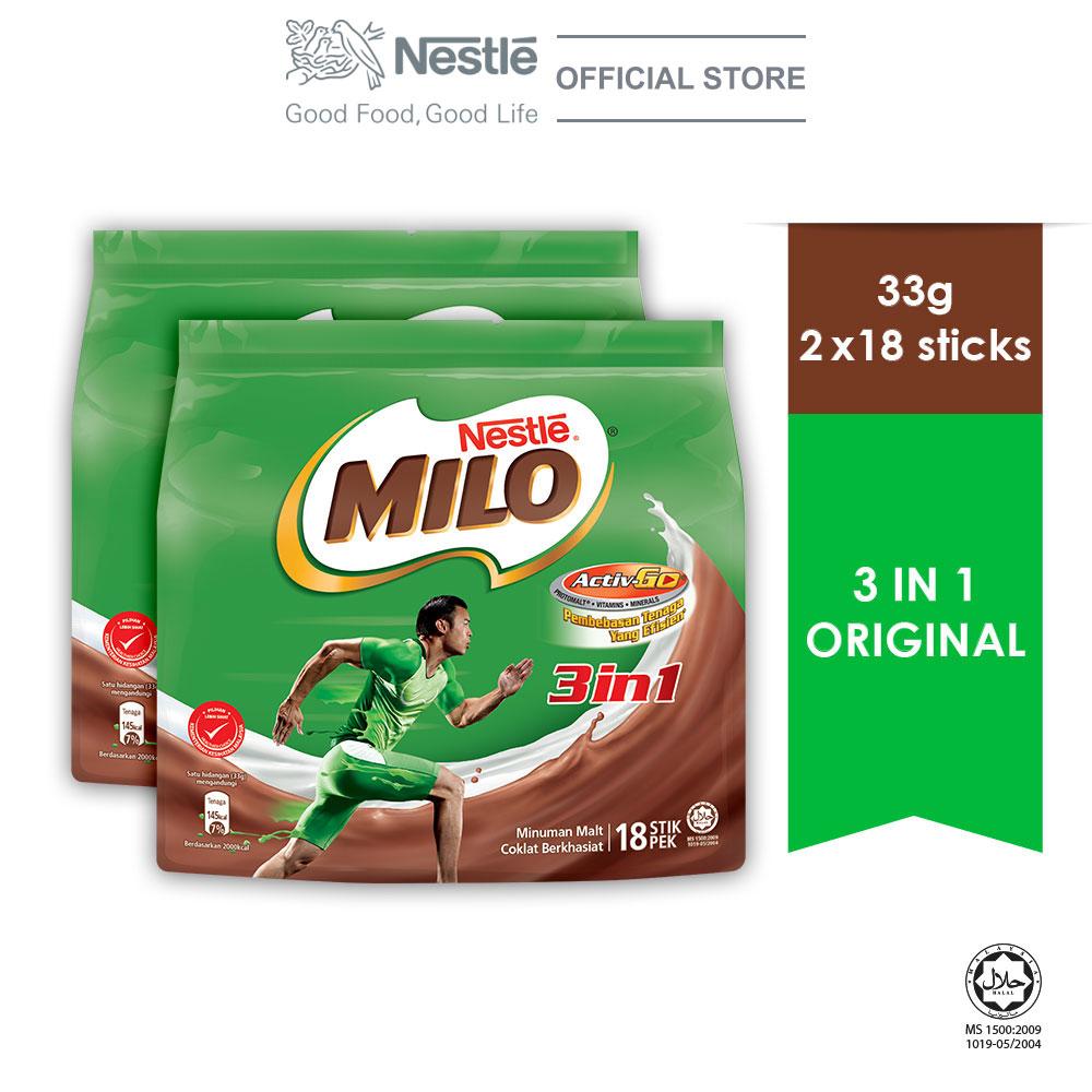 NESTLE MILO 3IN1 ACTIV-GO 18 Sticks 33g x2 packs