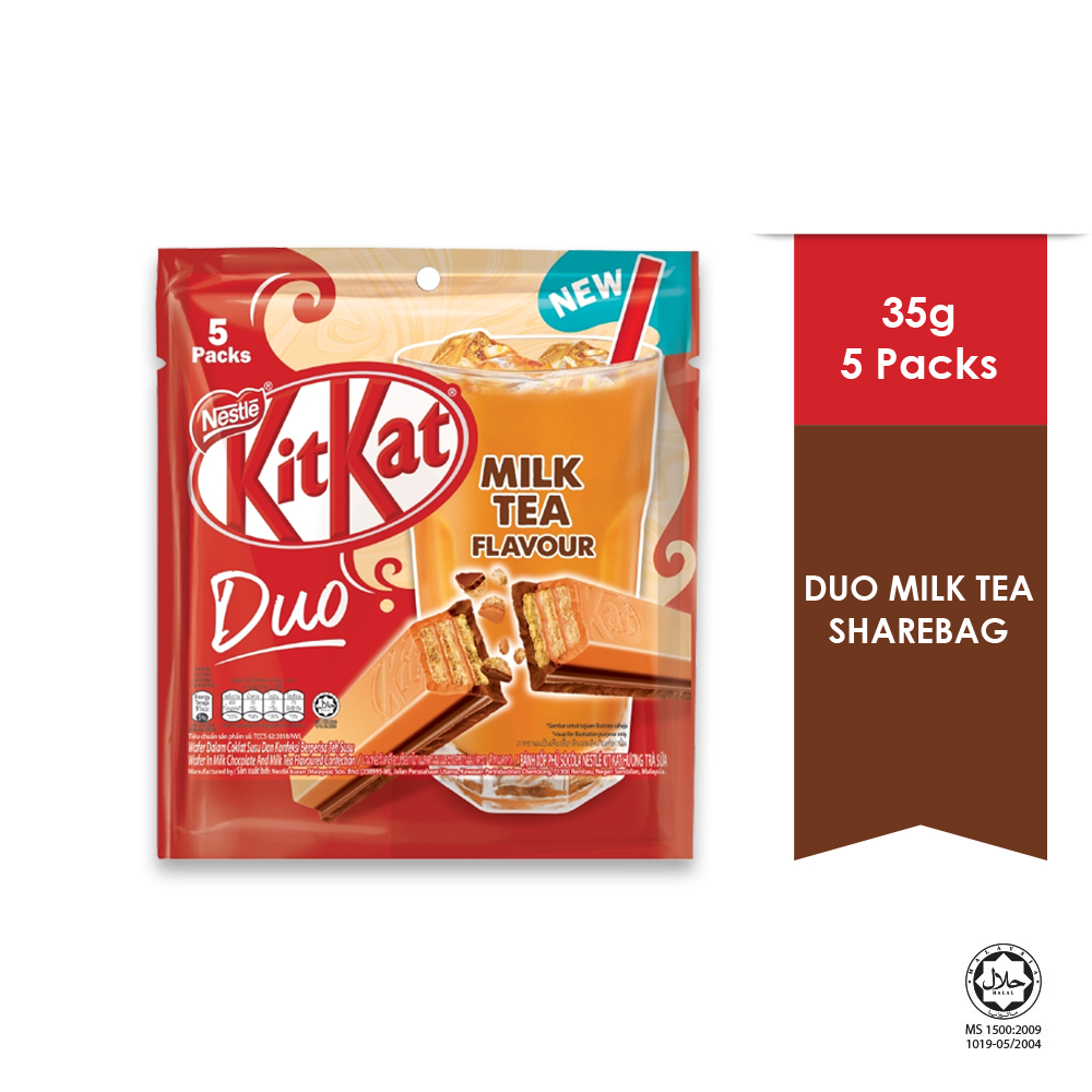 Nestle KITKAT Duo Milk Tea Share Bag 5pcs (17g each)