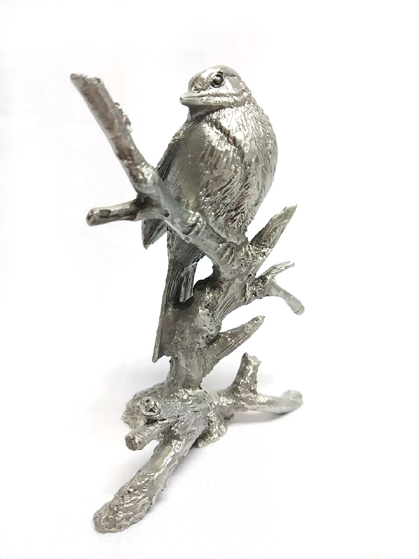 DKH036 Pewter Figurines - Bird on branch