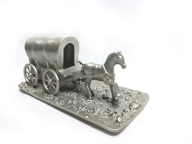 DKH043 Pewter Figurines - Horse with Cart